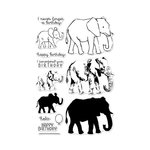 Hero Arts - Clear Acrylic Stamps - Color Layering Elephant