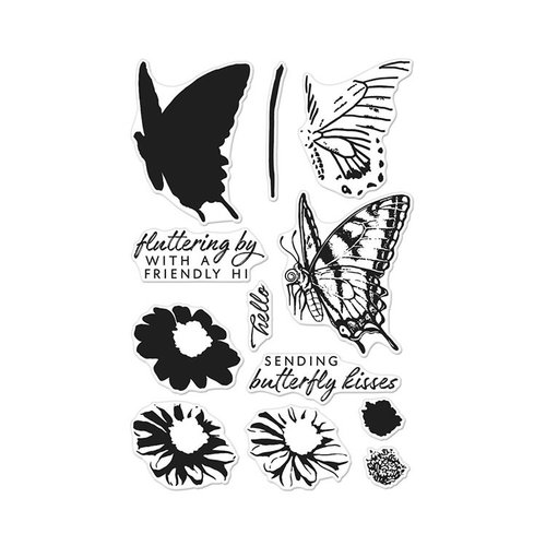 Hero Arts - Clear Photopolymer Stamps - Color Layering Swallowtail
