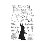 Hero Arts - Clear Acrylic Stamps - Color Layering Rabbit