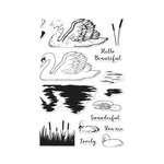Hero Arts - Clear Acrylic Stamps - Color Layering Swan