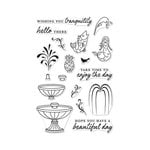 Hero Arts - Clear Acrylic Stamps - Make A Fountain