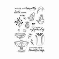 Hero Arts - Clear Photopolymer Stamps - Make A Fountain