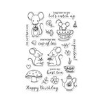 Hero Arts - Clear Acrylic Stamps - Mouse Tea Party
