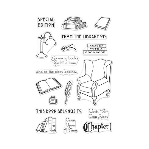 Hero Arts - Clear Photopolymer Stamps - In The Study