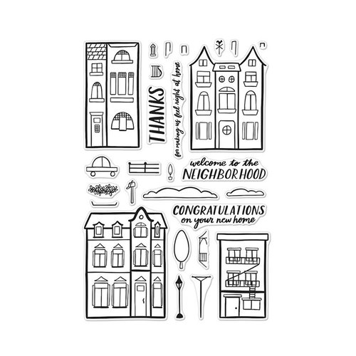 Hero Arts - Clear Photopolymer Stamps - Welcome Neighbor