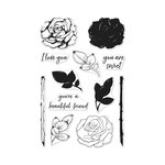 Hero Arts - Clear Acrylic Stamps - Color Layering Rose