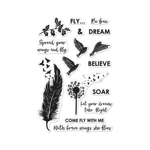 Hero Arts - Clear Acrylic Stamps - Come Fly With Me