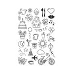 Hero Arts - Clear Acrylic Stamps - Everyday Icons