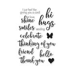 Hero Arts - Clear Acrylic Stamps - Hand Drawn Everyday Messages