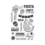 Hero Arts - Clear Acrylic Stamps - Shake Your Bones