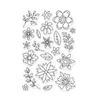 Hero Arts - Clear Photopolymer Stamps - Flowers for Coloring