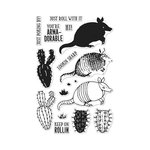 Hero Arts - Clear Photopolymer Stamps - Color Layering Armadillo