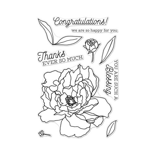 Hero Arts - Clear Photopolymer Stamps - Peonies