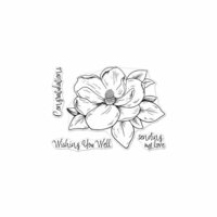 Hero Arts - Clear Photopolymer Stamps - Hero Florals - Magnolia