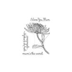 Hero Arts - Clear Photopolymer Stamps - Hero Florals - Mum Stem
