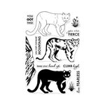 Hero Arts - Clear Acrylic Stamps - Color Layering Mountain Lion