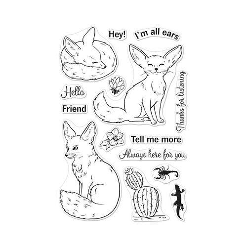 Hero Arts - Clear Photopolymer Stamps - Fennec The Fox