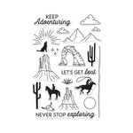 Hero Arts - Clear Acrylic Stamps - Cowboy Adventure