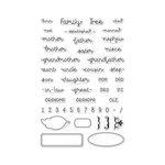Hero Arts - Clear Acrylic Stamps - Family Tree Words