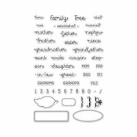 Hero Arts - Clear Photopolymer Stamps - Family Tree Words