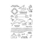 Hero Arts - Clear Acrylic Stamps - You and Me By The Sea