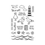Hero Arts - Clear Acrylic Stamps - Seas The Day Seagulls