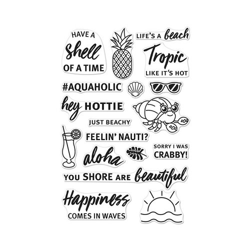 Hero Arts - Clear Photopolymer Stamps - Beach Messages