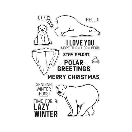 Hero Arts- Season of Wonder Collection - Clear Photopolymer Stamps - Polar Greetings
