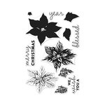 Hero Arts- Season of Wonder Collection - Christmas - Clear Photopolymer Stamps - Color Layering Poinsettia