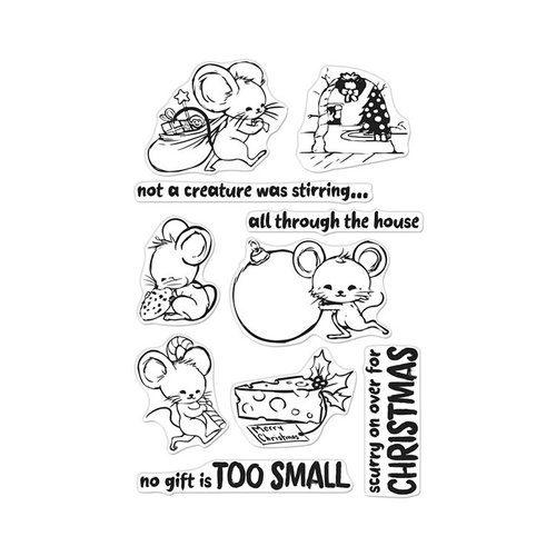 Hero Arts- Season of Wonder Collection - Clear Photopolymer Stamps - Christmas Mice
