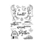 Hero Arts- Season of Wonder Collection - Clear Photopolymer Stamps - Bundle Up