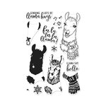 Hero Arts- Season of Wonder Collection - Christmas - Clear Photopolymer Stamps - Color Layering Fa La Llama