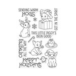 Hero Arts- Season of Wonder Collection - Christmas - Clear Photopolymer Stamps - Sending Warm Hogs