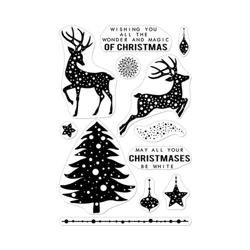 Hero Arts- Season of Wonder Collection - Clear Photopolymer Stamps - Wonder and Magic of Christmas