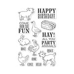Hero Arts - Clear Acrylic Stamps - Hay Party Animals