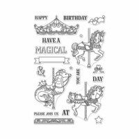 Hero Arts - Clear Photopolymer Stamps - Ornate Carousel