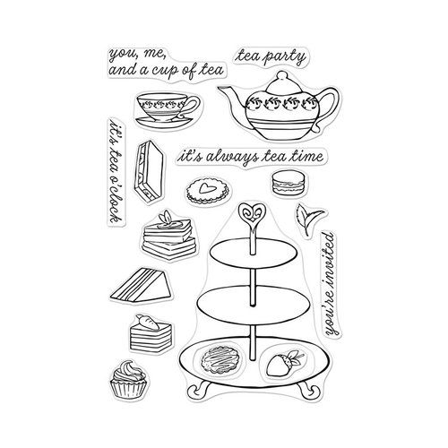 Hero Arts - Clear Photopolymer Stamps - Tea Time