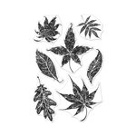 Hero Arts - Clear Photopolymer Stamps - Textured Leaves