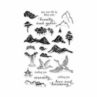 Hero Arts - Clear Photopolymer Stamps - Ink Painting Scene