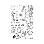 Hero Arts - Christmas - Clear Photopolymer Stamps - Ice Fishing