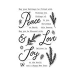 Hero Arts - Christmas - Clear Photopolymer Stamps - Peace, Love and Joy