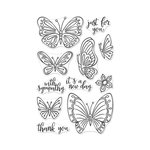 Hero Arts - Clear Photopolymer Stamps - New Day Butterflies