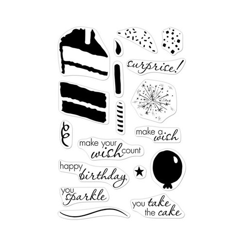 Hero Arts - Clear Photopolymer Stamps - Color Layering Birthday Cake