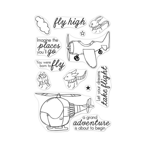Hero Arts - Clear Photopolymer Stamps - Fly High Animals