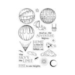Hero Arts - Clear Photopolymer Stamps - Sky's the Limit Balloons