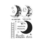 Hero Arts - Clear Photopolymer Stamps - Color Layering Sleepy Moon