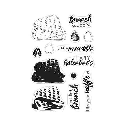 Hero Arts - Clear Photopolymer Stamps - Color Layering Waffles
