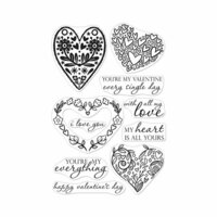 Hero Arts - Clear Photopolymer Stamps - All My Love Decorative Hearts