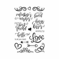 Hero Arts - Clear Photopolymer Stamps - You Are Loved Flourish Messages