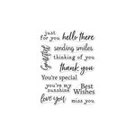 Hero Arts - Clear Photopolymer Stamps - Hero Greetings Sending Smiles